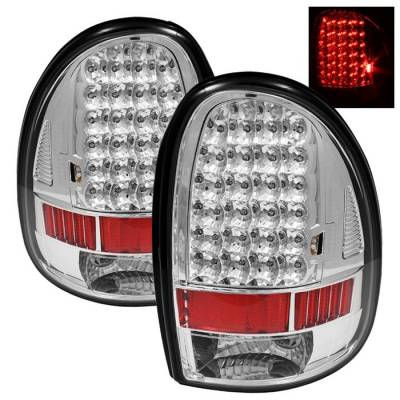 Headlights & Tail Lights - Tail Lights - Spyder - Dodge Caravan Spyder LED Taillights - Chrome - ALT-ON-DC96-LED-C