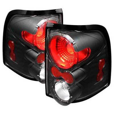 Headlights & Tail Lights - Tail Lights - Spyder Auto - Mercury Mountaineer Spyder Altezza Taillights - Black - ALT-ON-FEXP02-BK