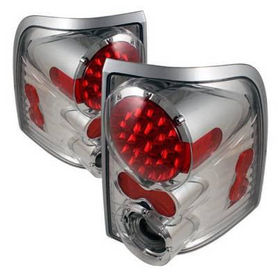 Headlights & Tail Lights - Tail Lights - Spyder Auto - Mercury Mountaineer Spyder LED Taillights - Chrome - ALT-ON-FEXP02-LED-C