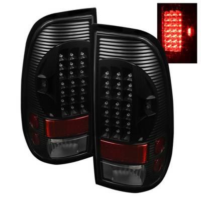 Headlights & Tail Lights - Tail Lights - Spyder - Ford F350 Superduty Spyder LED Taillights - Black - ALT-ON-FF15097-LED-BK