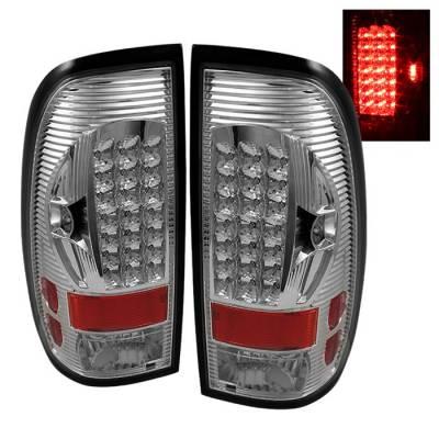 Headlights & Tail Lights - Tail Lights - Spyder - Ford F350 Superduty Spyder LED Taillights - Chrome - ALT-ON-FF15097-LED-C