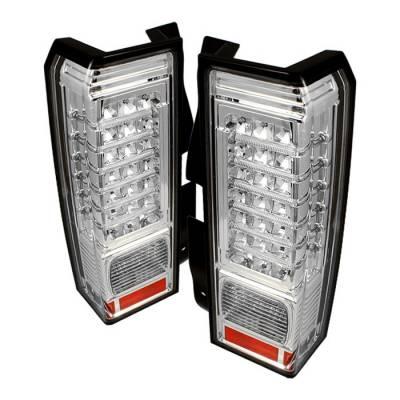 Headlights & Tail Lights - Tail Lights - Spyder - Hummer H3 Spyder LED Taillights - Chrome - ALT-ON-HH306-LED-C