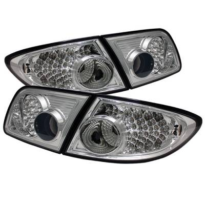 Headlights & Tail Lights - Tail Lights - Spyder - Mazda 6 Spyder LED Taillights - Chrome - ALT-ON-M603-LED-C