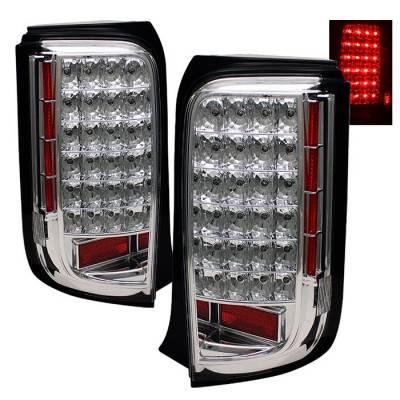 Headlights & Tail Lights - Tail Lights - Spyder - Scion xB Spyder LED Taillights - Chrome - ALT-ON-TSXB08-LED-C