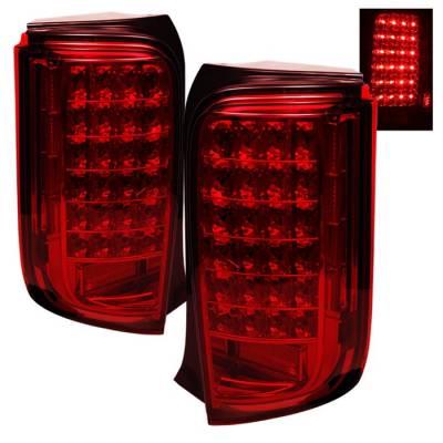 Headlights & Tail Lights - Tail Lights - Spyder - Scion xB Spyder LED Taillights - Red - ALT-ON-TSXB08-LED-R