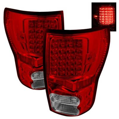Headlights & Tail Lights - Tail Lights - Spyder - Toyota Tundra Spyder LED Taillights - Red Clear - ALT-ON-TTU07-LED-RC