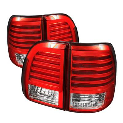 Headlights & Tail Lights - Tail Lights - Spyder Auto - Lexus LX Spyder LED Taillights - Red Clear - ALT-YD-LLX47098-LED-RC