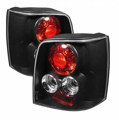 Headlights & Tail Lights - Tail Lights - Spyder Auto - Volkswagen Passat Spyder Altezza Taillights - Black - ALT-YD-VWPAT97-5D-BK