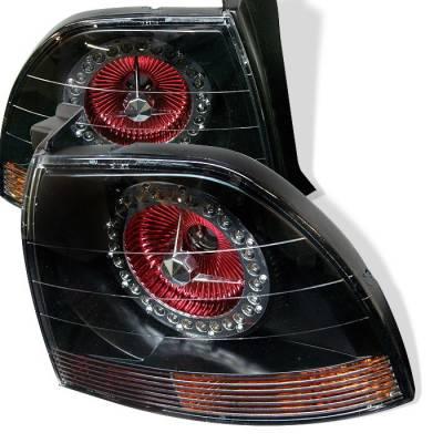Headlights & Tail Lights - Tail Lights - Spyder Auto - Honda Accord Spyder LED Taillights - Black - ALT-YJ9495TLZ-BK-LED