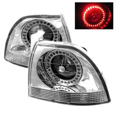 Headlights & Tail Lights - Tail Lights - Spyder Auto - Honda Accord Spyder LED Taillights - Chrome - ALT-YJ9495TLZ-C-LED
