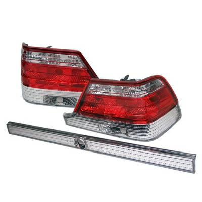 Headlights & Tail Lights - Tail Lights - Spyder Auto - Mercedes-Benz S Class Spyder Taillights - Red Clear - ALT-YZ-MBW140-RC