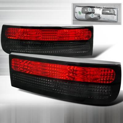 Headlights & Tail Lights - Tail Lights - Spec-D - Nissan 300Z Spec-D Altezza Taillights - Red & Smoke - LT-300Z90RG-APC