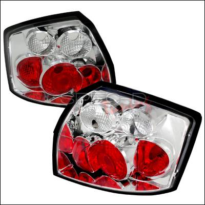 Headlights & Tail Lights - Tail Lights - Spec-D - Audi A4 Spec-D Altezza Taillights - Chrome - LT-A402-TM