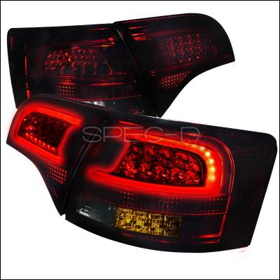 Headlights & Tail Lights - Tail Lights - Spec-D - Audi A4 Spec-D LED Taillights - Red & Smoke - LT-A4065RGLED-APC