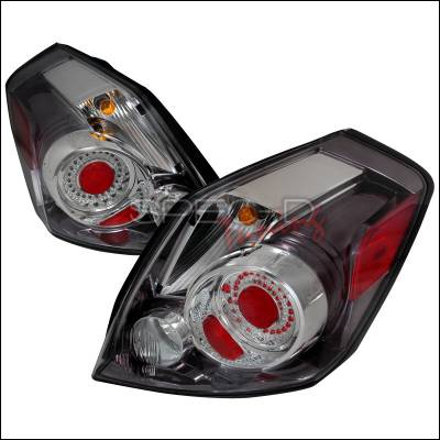 Headlights & Tail Lights - Tail Lights - Spec-D - Nissan Altima Spec-D LED Taillights - Chrome - LT-ALT074CLED-DP