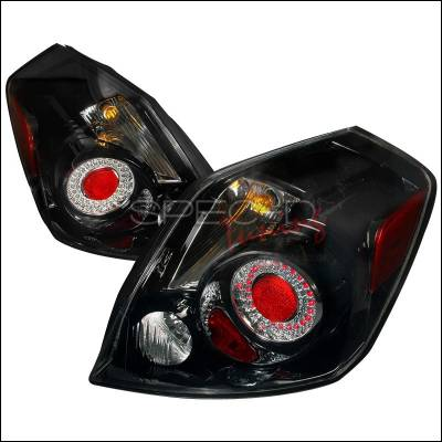 Headlights & Tail Lights - Tail Lights - Spec-D - Nissan Altima Spec-D LED Taillights - Black - LT-ALT074JMLED-DP