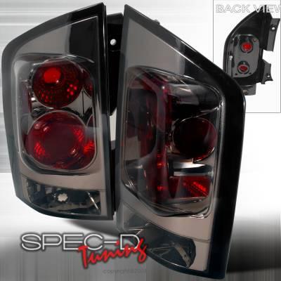 Headlights & Tail Lights - Tail Lights - Spec-D - Nissan Armada Spec-D Altezza Taillights - Smoke - LT-AMD04G-TM