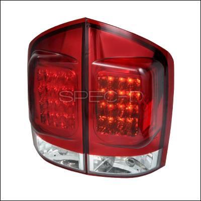 Headlights & Tail Lights - Tail Lights - Spec-D - Nissan Armada Spec-D LED Taillights - Red - LT-AMD04RLED-TM