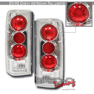 Headlights & Tail Lights - Tail Lights - Spec-D - Chevrolet Astro Spec-D Altezza Taillights - Chrome - LT-AST85-KS