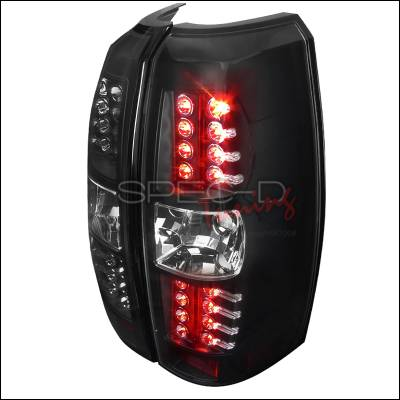 Headlights & Tail Lights - Tail Lights - Spec-D - Chevrolet Avalanche Spec-D Black Housing LED Taillights - LT-AVA07JMLED-TM
