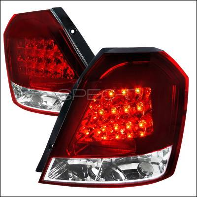 Headlights & Tail Lights - Tail Lights - Spec-D - Chevrolet Aveo Spec-D LED Taillights - Red - LT-AVE07RLED-TM