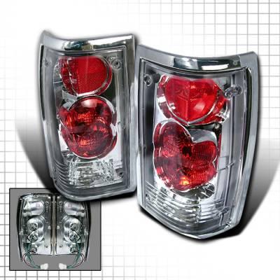 Headlights & Tail Lights - Tail Lights - Spec-D - Mazda B2000 Spec-D Altezza Taillights - Chrome - LT-B200086-KS