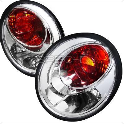 Headlights & Tail Lights - Tail Lights - Spec-D - Volkswagen Beetle Spec-D Euro Tailights - Chrome Housing - LT-BEE98-APC