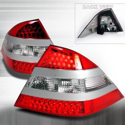 Headlights & Tail Lights - Tail Lights - Spec-D - Mercedes-Benz S Class Spec-D LED Taillights - Red - LT-BW220S2RLED-KS