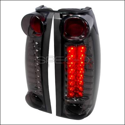 Headlights & Tail Lights - Tail Lights - Spec-D - Cadillac Escalade Spec-D LED Taillights - Smoke - LT-C1088GLED-TM