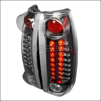 Headlights & Tail Lights - Tail Lights - Spec-D - Cadillac Escalade Spec-D LED Taillights - Black - LT-C1088JMLED-TM