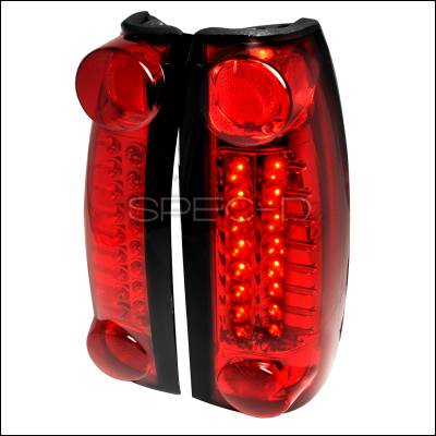 Headlights & Tail Lights - Tail Lights - Spec-D - Cadillac Escalade Spec-D LED Taillights - Red - LT-C1088RLED-TM