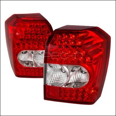 Headlights & Tail Lights - Tail Lights - Spec-D - Dodge Caliber Spec-D LED Taillights - Red - LT-CAL07RLED-KS