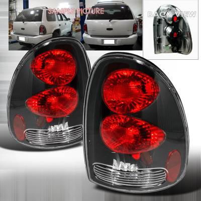 Headlights & Tail Lights - Tail Lights - Spec-D - Dodge Caravan Spec-D Altezza Taillights - Black - LT-CAR96JM-KS