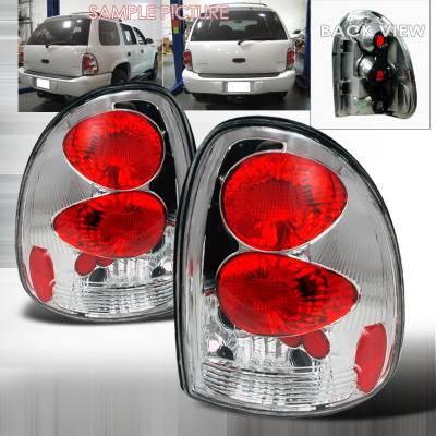 Headlights & Tail Lights - Tail Lights - Spec-D - Dodge Caravan Spec-D Altezza Taillights - Chrome - LT-CAR96-KS