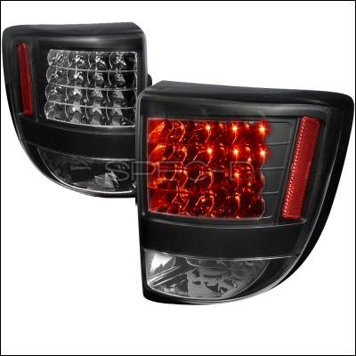 Headlights & Tail Lights - Tail Lights - Spec-D - Toyota Celica Spec-D Black Housing LED Taillights - LT-CEL00JMLED-TM