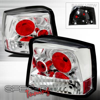 Headlights & Tail Lights - Tail Lights - Spec-D - Dodge Charger Spec-D Altezza Taillights - Chrome - LT-CHG05-TM