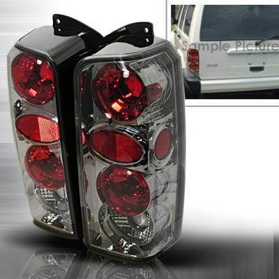 Headlights & Tail Lights - Tail Lights - Spec-D - Jeep Cherokee Spec-D Altezza Taillights - Smoke - LT-CHKE97G-KS