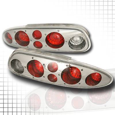 Headlights & Tail Lights - Tail Lights - Spec-D - Chevrolet Camaro Spec-D Altezza Taillights - Chrome - LT-CMR93CF-KS