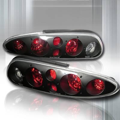 Headlights & Tail Lights - Tail Lights - Spec-D - Chevrolet Camaro Spec-D Altezza Taillights - Black - LT-CMR93JM-KS