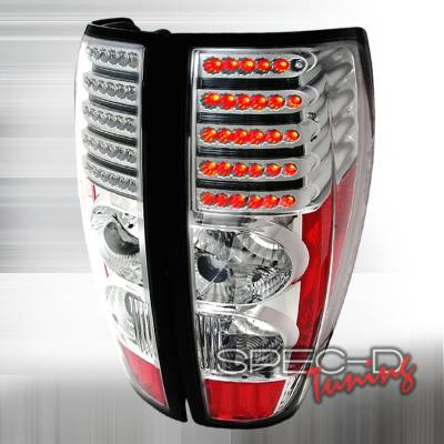 Headlights & Tail Lights - Tail Lights - Spec-D - GMC Canyon Spec-D LED Taillights - Chrome - LT-COL04CLED-DP