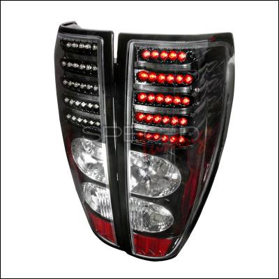 Headlights & Tail Lights - Tail Lights - Spec-D - GMC Canyon Spec-D LED Taillights - Black - LT-COL04JMLED-DP