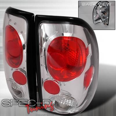 Headlights & Tail Lights - Tail Lights - Spec-D - Dodge Dakota Spec-D Altezza Taillights - Chrome - LT-DAK97-KS