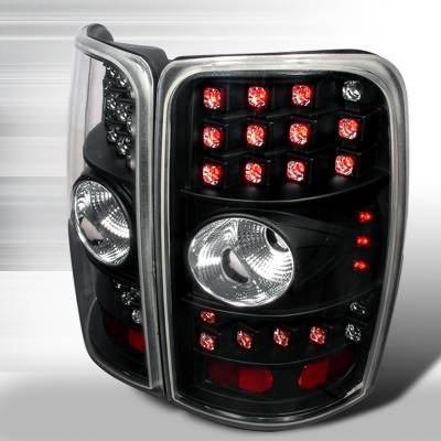 Headlights & Tail Lights - Tail Lights - Spec-D - GMC Denali Spec-D LED Taillights - Black with Clear Lens - LT-DEN00BCLED-WJ