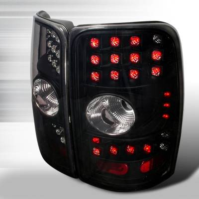 Headlights & Tail Lights - Tail Lights - Spec-D - GMC Denali Spec-D LED Taillights - Black with Smoke Lens - LT-DEN00BGLED-WJ