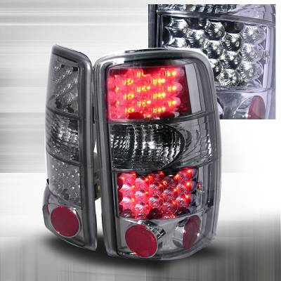 Headlights & Tail Lights - Tail Lights - Spec-D - GMC Denali Spec-D LED Taillights - Smoke - LT-DEN00GLED-KS
