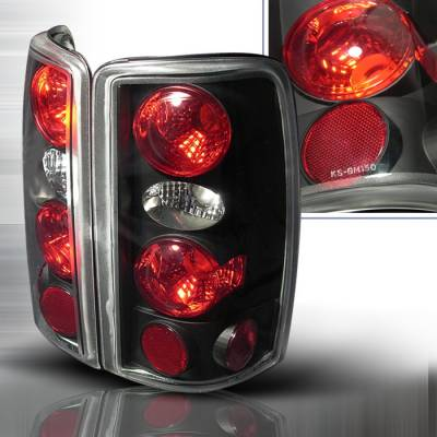Headlights & Tail Lights - Tail Lights - Spec-D - GMC Denali Spec-D Altezza Taillights - Black - LT-DEN00JM-KS