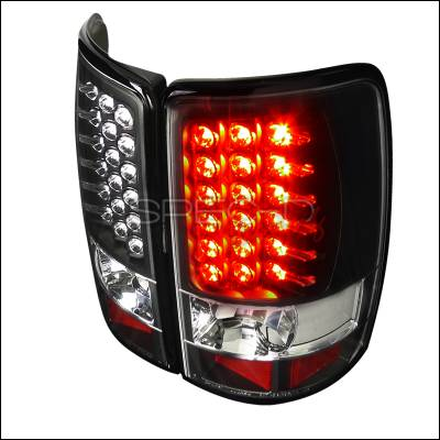 Headlights & Tail Lights - Tail Lights - Spec-D - GMC Denali Spec-D LED Taillights - Black - LT-DEN00JMLED-TM