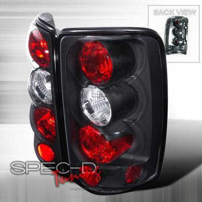 Headlights & Tail Lights - Tail Lights - Spec-D - GMC Denali Spec-D Altezza Taillights - Black - LT-DEN00JM-TM