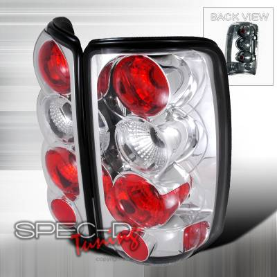 Headlights & Tail Lights - Tail Lights - Spec-D - GMC Denali Spec-D Altezza Taillights - Chrome - LT-DEN00-TM