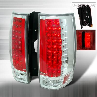 Headlights & Tail Lights - Tail Lights - Spec-D - GMC Denali Spec-D LED Taillights - Chrome - LT-DEN07CG3LED-KS